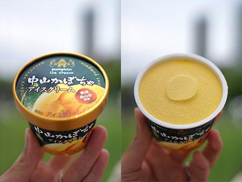 フタバ食品:中山かぼちゃアイスクリーム
