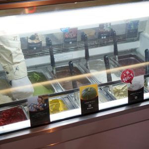 円山ジェラート No.24 HACO店 ショーケース